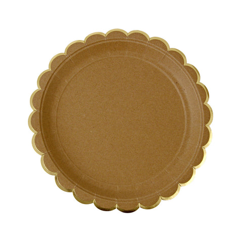 Meri Meri Natural Scallop Edge Plates