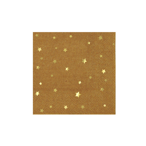 Kraft Star Small Napkins