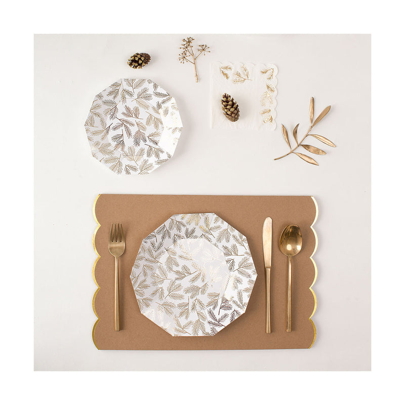 Gold Pine Napkins  Napkins Meri Meri - Hello Party