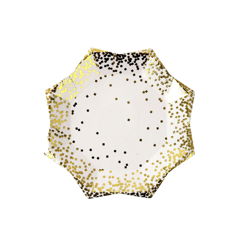 Small Gold Confetti Plates  Party Plates Meri Meri - Hello Party