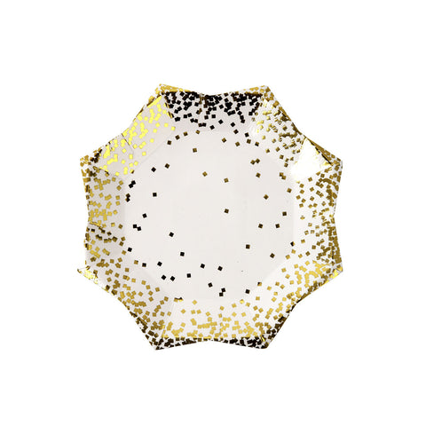 Small Gold Confetti Plates
