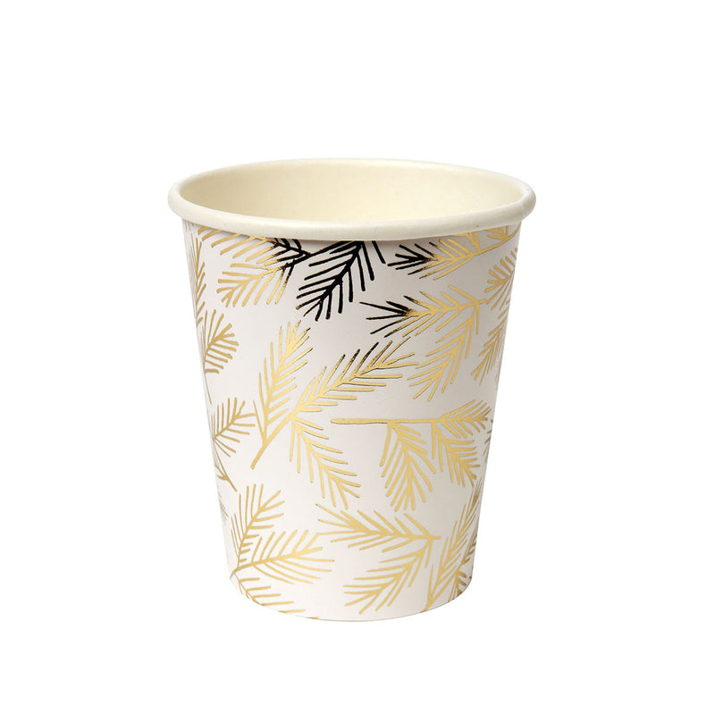 Gold Pine Cups  Party Cups Meri Meri - Hello Party