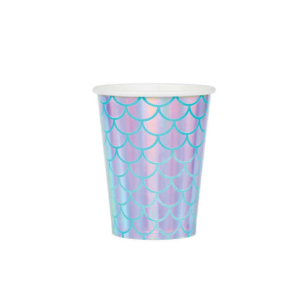 Iridescent Mermaid Party Paper Cups