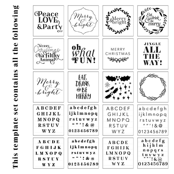 Merry & Bright Template Pack for your Hooray Party Display