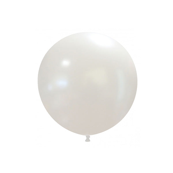 "Metallic White Big Round Balloon (18"")  Big Round Latex Balloons Hello Party Essentials - Hello Party"