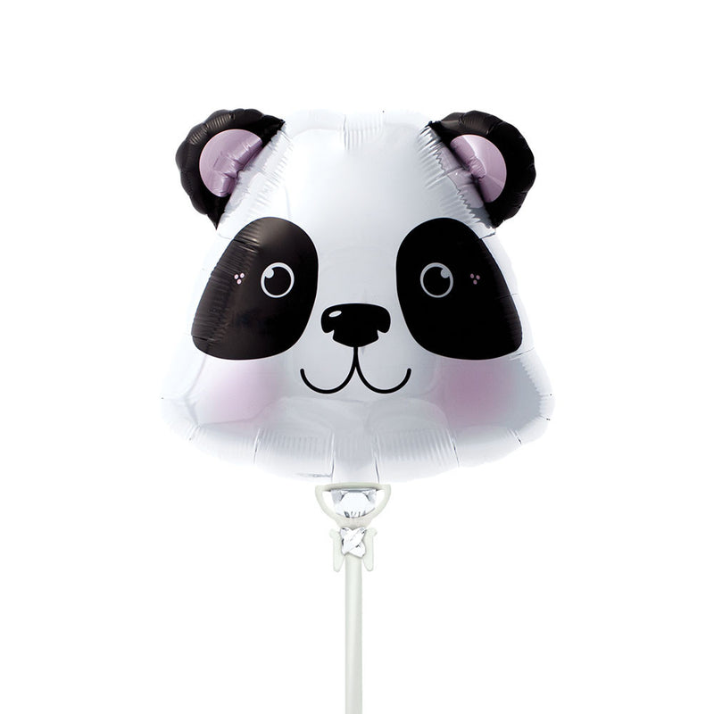Mini Panda Head Air-Fill Foil Balloon & Stick  Balloons Hello Party - All you need to make your party perfect!  - Hello Party