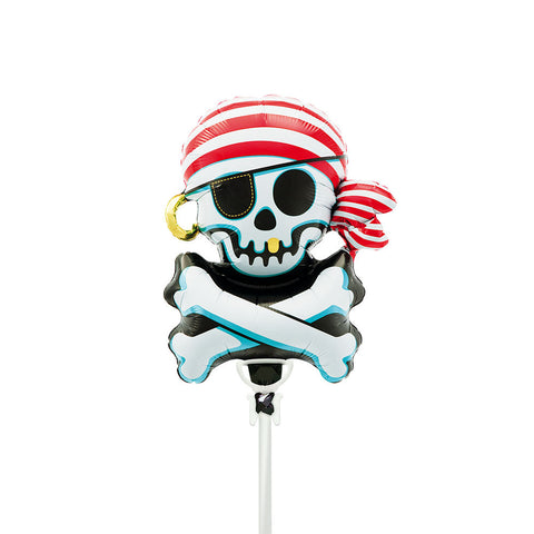 "Jolly Roger 14"" Air Fill Foil Balloon & Stick"