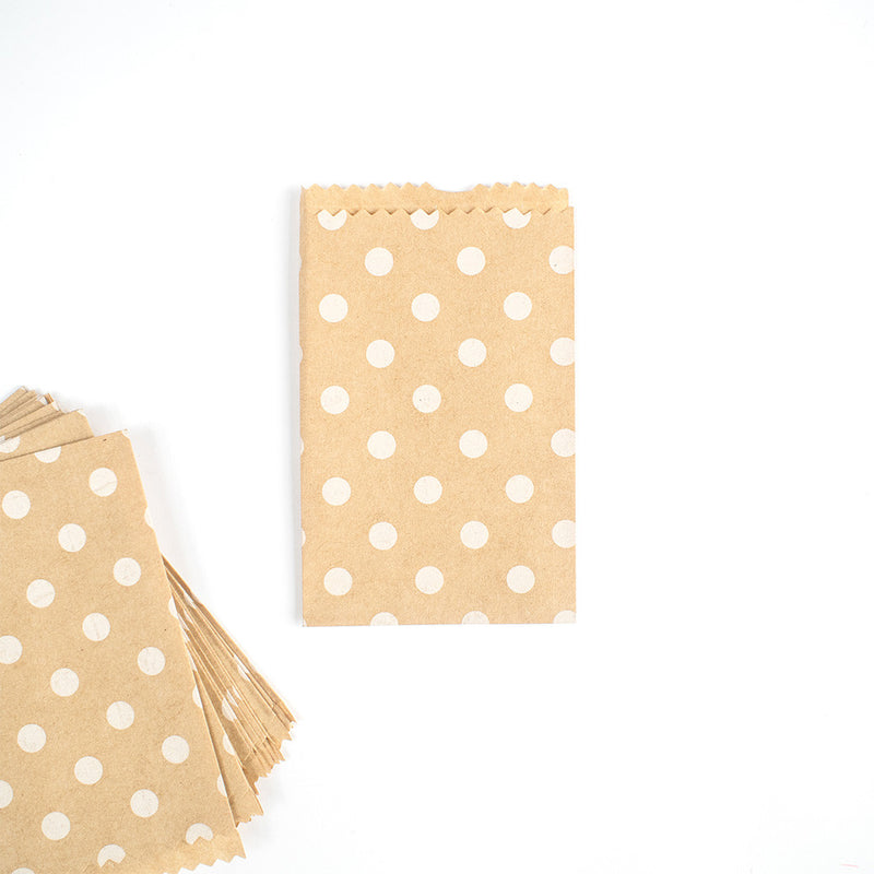 Mini Kraft Polka Dot Paper Treat Bags