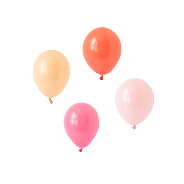 Coral Charm Mini Balloon Mix (pack of 12)  Mini Latex Balloon Collections Hello Party Essentials - Hello Party