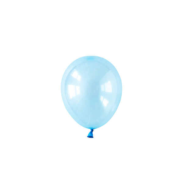 Mini Pastel Blue Crystal Party Balloons (pack of 5)
