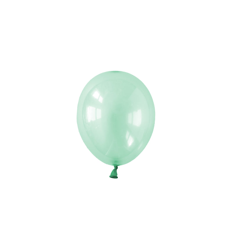 Mini Pastel Green Crystal Party Balloons (pack of 5)