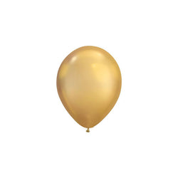 MINI Chrome Gold Balloons (pack of 5)  mini balloons qualatex - Hello Party