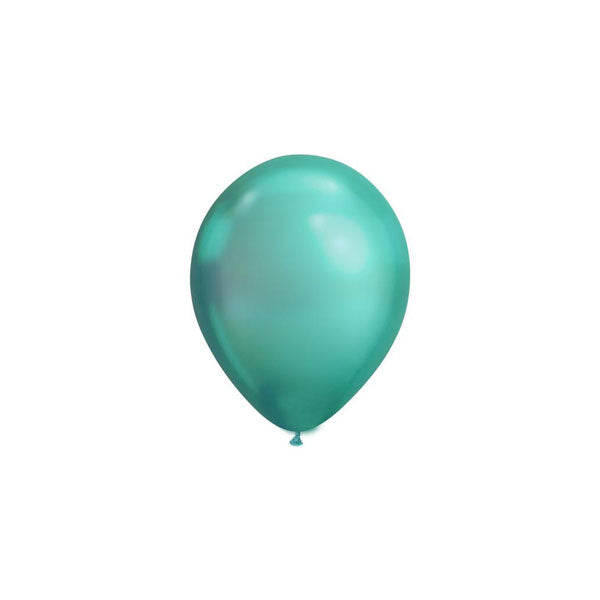 MINI Chrome Green Balloons (pack of 5)  mini balloons qualatex - Hello Party