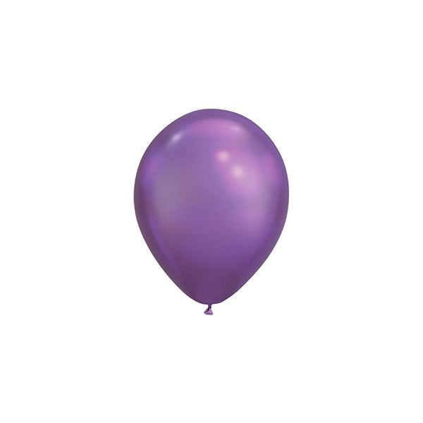 MINI Chrome Purple Balloons (pack of 5)  mini balloons qualatex - Hello Party