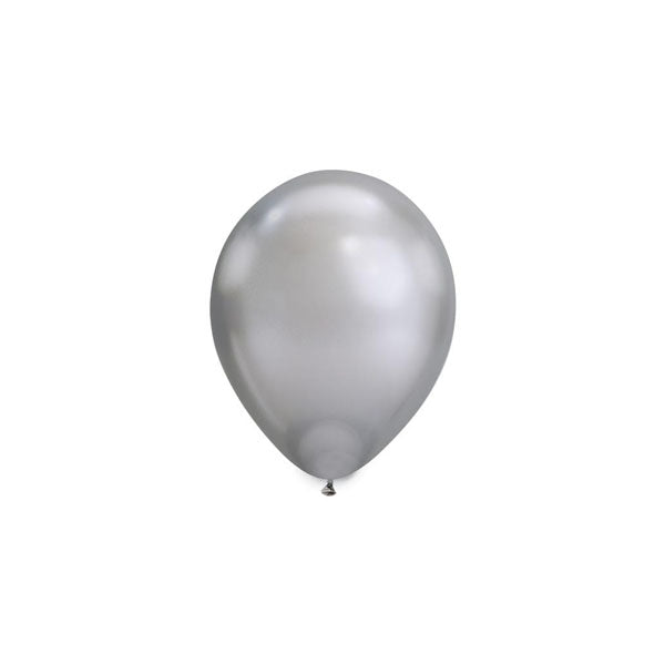 MINI Chrome Silver Balloons (pack of 5)