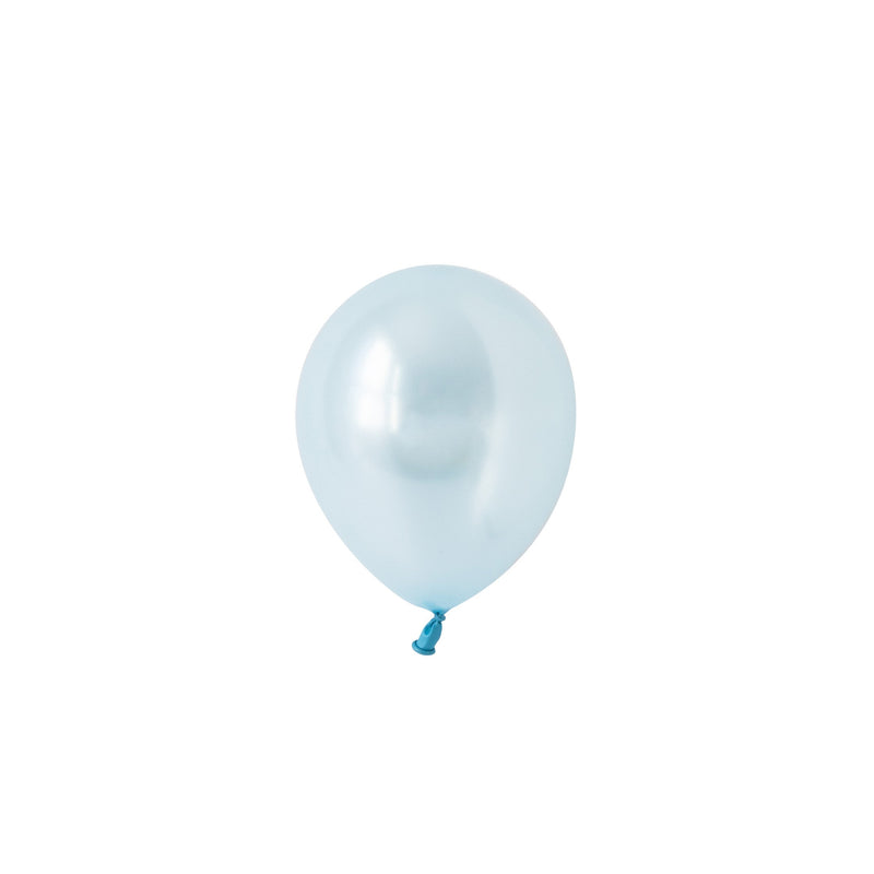 Mini Light Blue Pearl Balloons (Pack of 5)  Mini Latex Balloons Hello Party Essentials - Hello Party