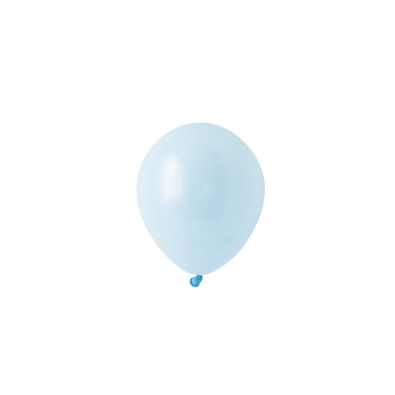 Mini Chalky Pastel Blue Balloons (Pack of 5)