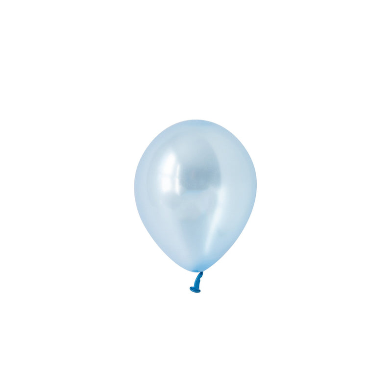 Mini Pearl Azure Blue Balloons (Pack of 5)  Mini Latex Balloons Hello Party Essentials - Hello Party