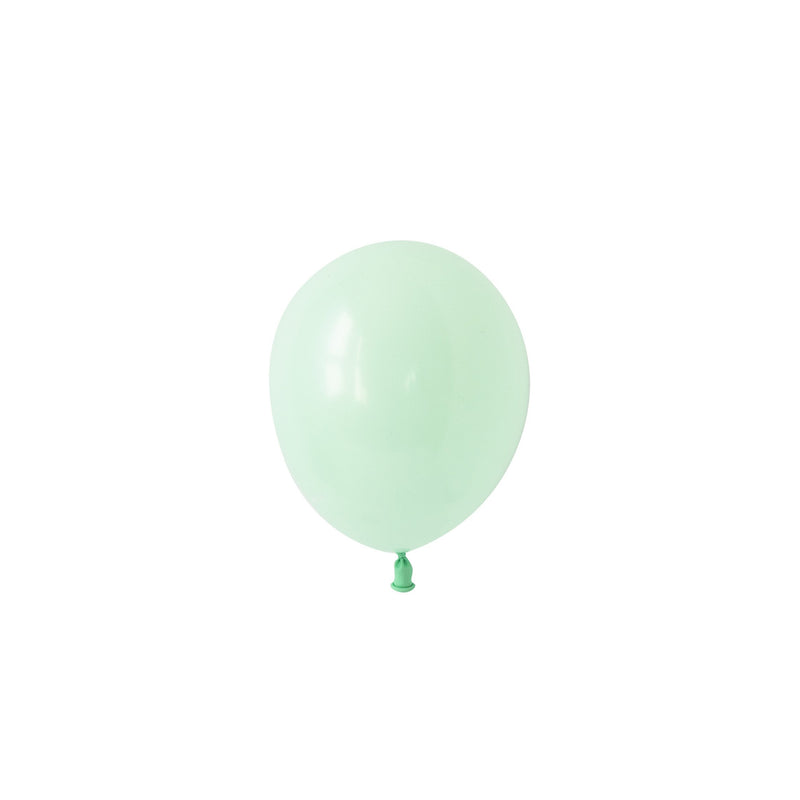Mini Chalky Pastel Green Balloons (Pack of 5)  Mini Latex Balloons Hello Party Essentials - Hello Party