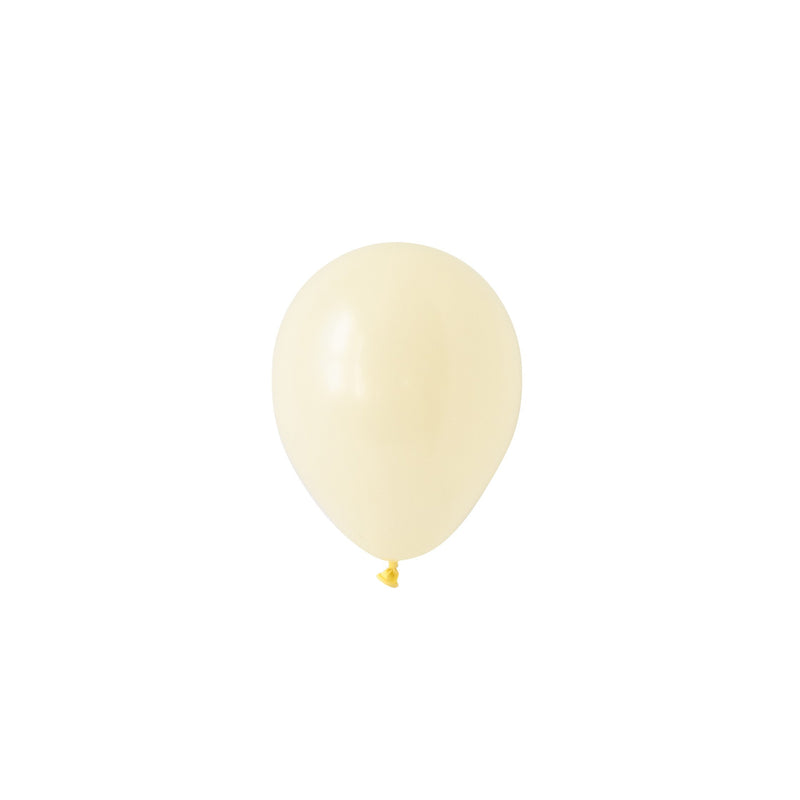 Mini Chalky Pastel Yellow Balloons (Pack of 5)  Mini Latex Balloons Hello Party Essentials - Hello Party
