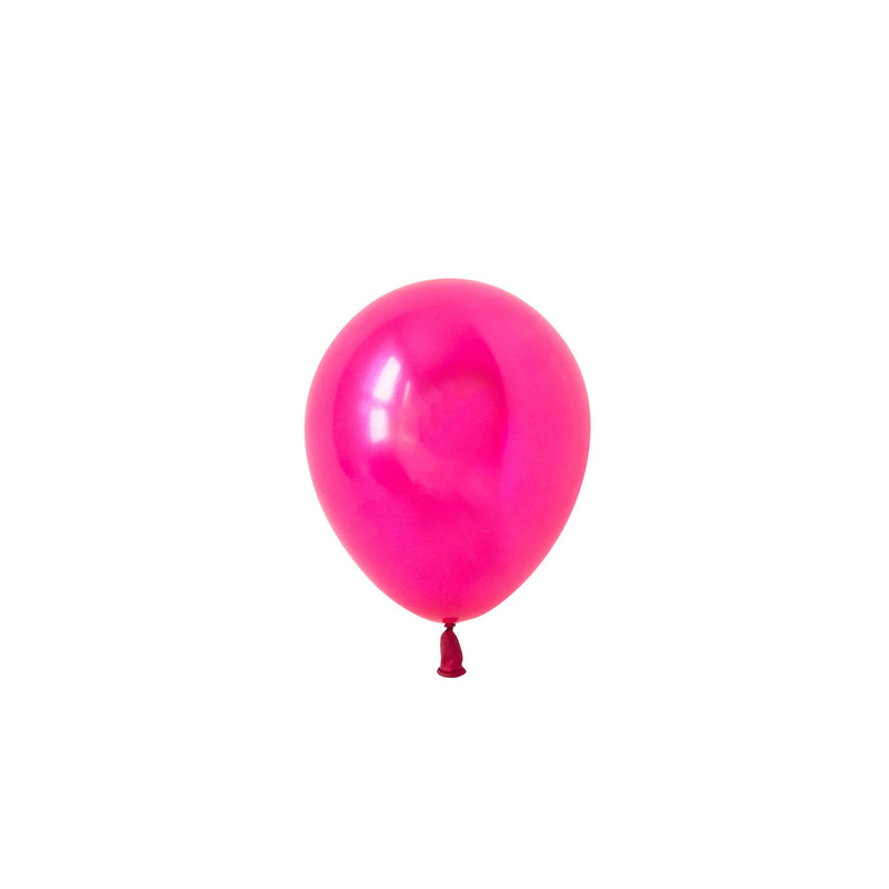 Mini Pearl Magenta Balloons (Pack of 5)  Mini Latex Balloons Hello Party Essentials - Hello Party