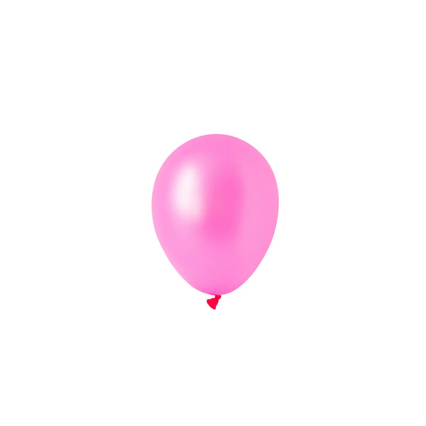 Mini Neon Pink Balloons (Pack of 5)  Mini Latex Balloons Hello Party Essentials - Hello Party