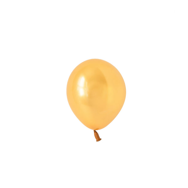 Mini Gold Balloons (Pack of 5)  Mini Latex Balloons Hello Party Essentials - Hello Party