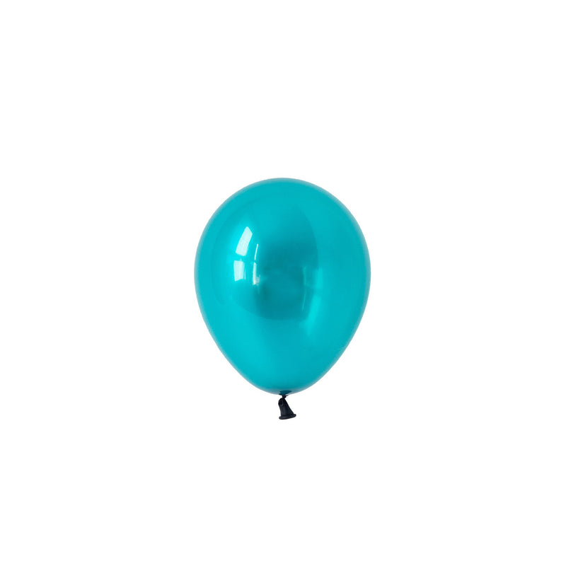 Mini Jewel Teal (Pack of 5)  Mini Latex Balloons Hello Party Essentials - Hello Party