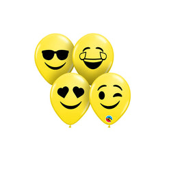 Mini Smiley balloons (pack of 5)  mini balloons Hello Party - Hello Party
