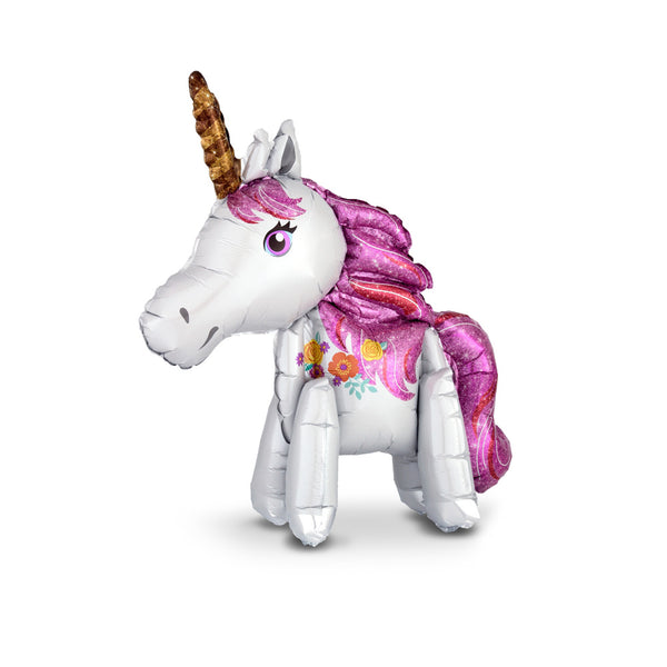 Standing Magical Unicorn Foil Balloon  Balloons Hello Party - All you need to make your party perfect! - Hello Party