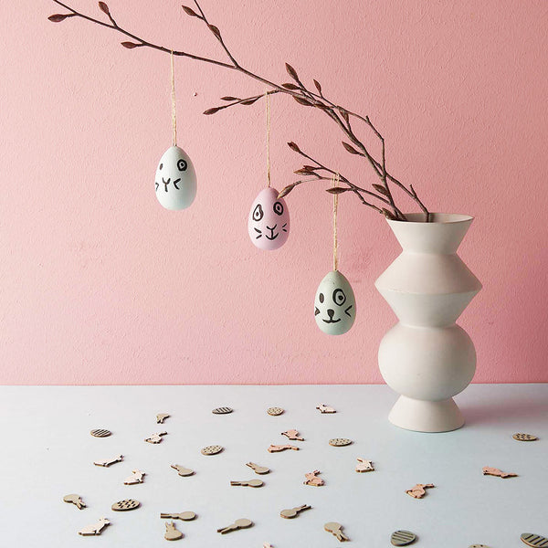 Mini Wooden Hanging Eggs