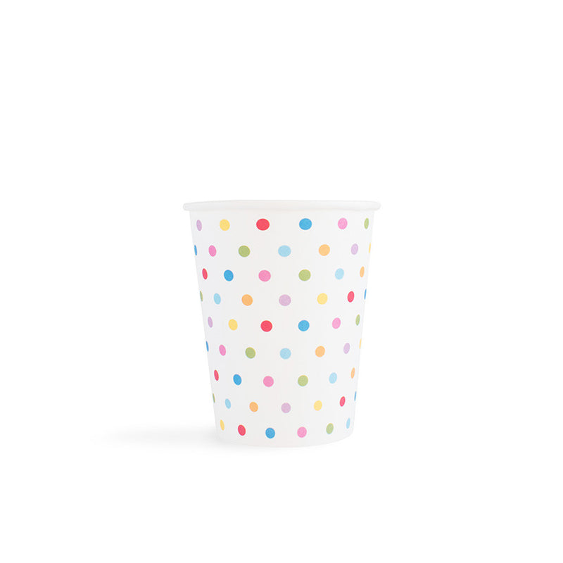Carnival - Paper Cups - Dots Multi- 8 - Hello Party - All you need to make your party perfect!