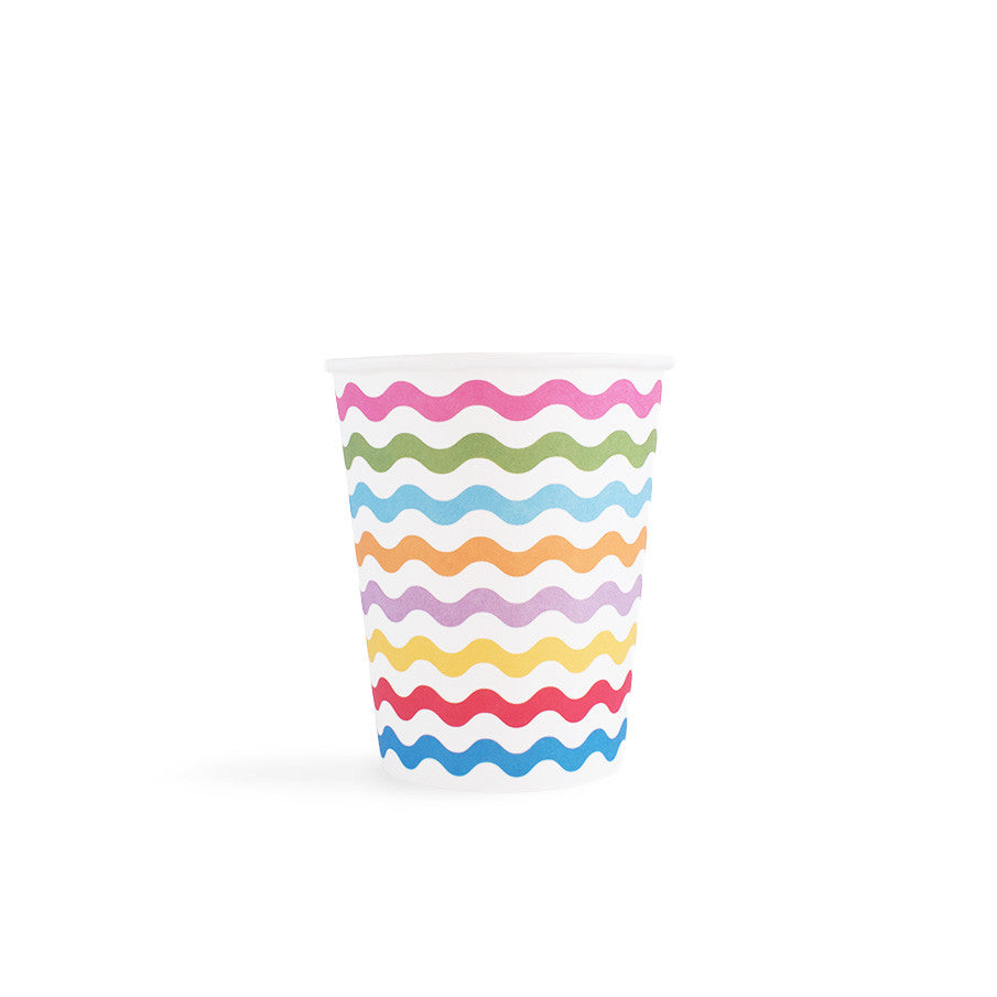 Carnival - Paper Cups - Waves Multi- 8 - Hello Party - All you need to make your party perfect!