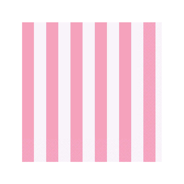 Lovely Pastel Pink Striped Napkins  Napkins Hello Party - All you need to make your party perfect!  - Hello Party