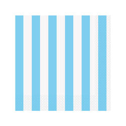 Light Pastel Blue Striped Napkins  Napkins Hello Party - All you need to make your party perfect!  - Hello Party