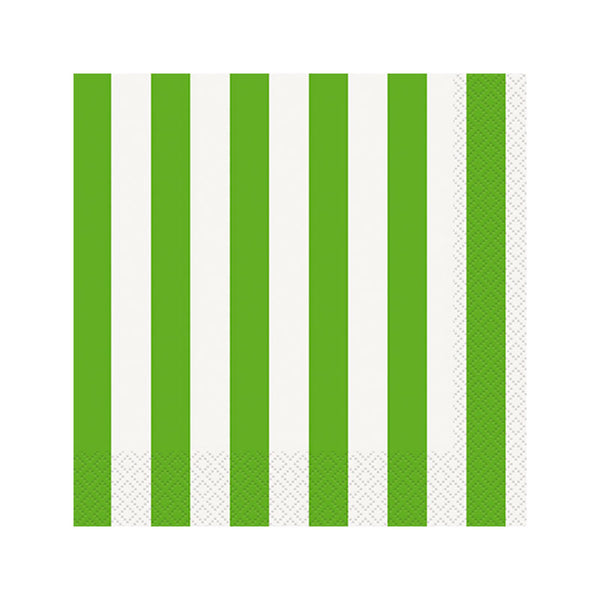 Green Striped Napkins  Napkins Hello Party - All you need to make your party perfect!  - Hello Party