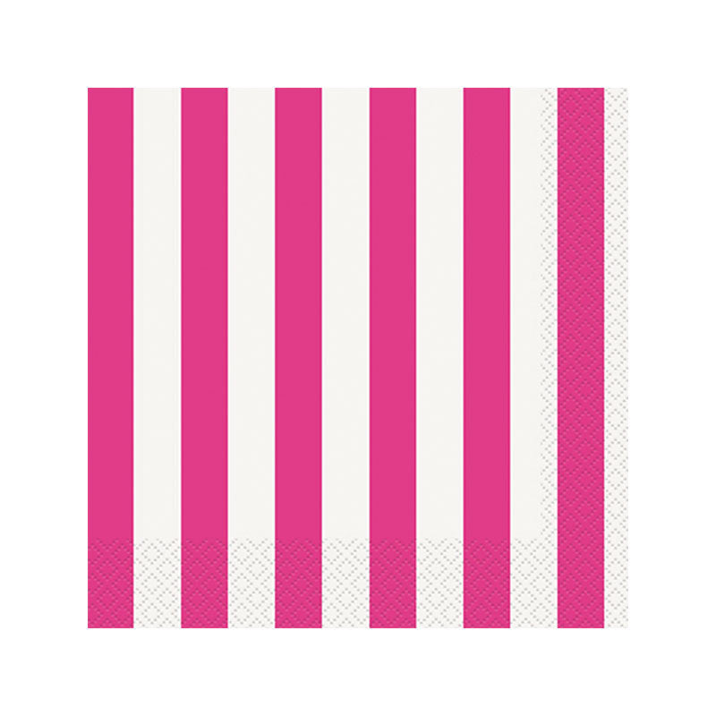 Pink Striped Napkins