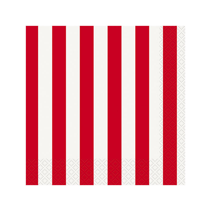 Red Striped Napkins