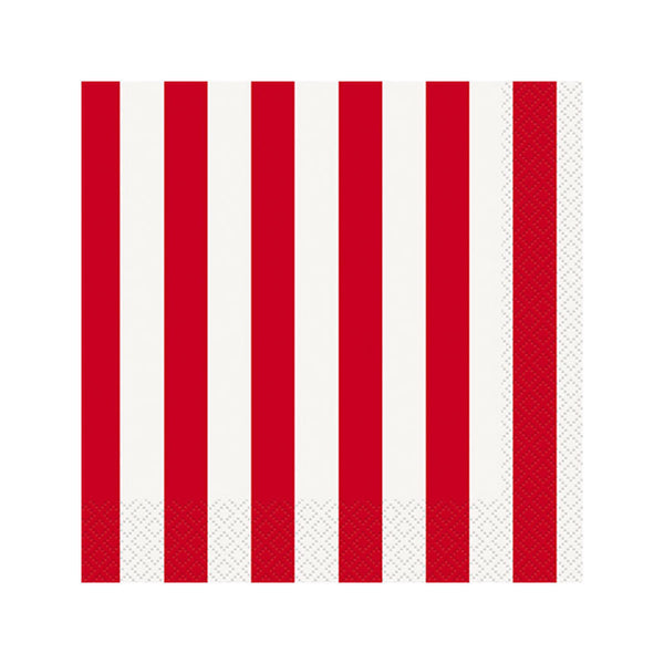 Red Striped Napkins  Napkins Hello Party - All you need to make your party perfect!  - Hello Party