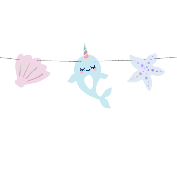 Narwhal Seashell DIY Garland Kit Party Supplies and Decorations