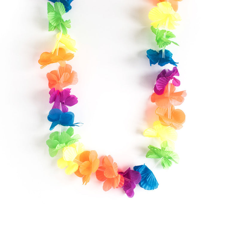 Hawaiian Neon Flower Lei  Fancy Dress Hello Party - All you need to make your party perfect!  - Hello Party