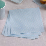 Polka Dot Napkins - Blue - 20