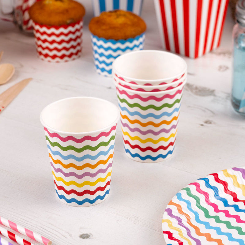 rainbow wavy cups  Party Cups Neviti - Hello Party