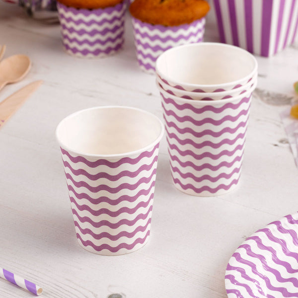 purple wavy cups  Party Cups Neviti - Hello Party