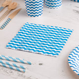 Carnival - Napkins - Waves Blue - 20 - Hello Party - All you need to make your party perfect!