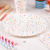 Carnival - Paper Plates - Stars Multi - 8 - Hello Party - All you need to make your party perfect!