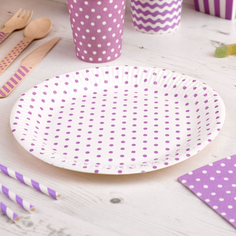 Carnival - Paper Plates - Dots Purple - 8 - Hello Party - All you need to make your party perfect!