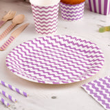 Carnival - Paper Plates - Waves Purple- 8 - Hello Party - All you need to make your party perfect!