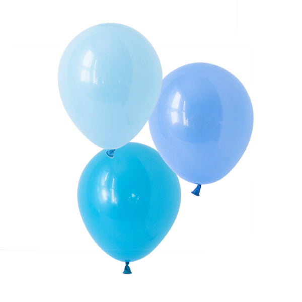 Brilliant Blue Mix Balloons  Latex Balloon Collections Hello Party Essentials - Hello Party