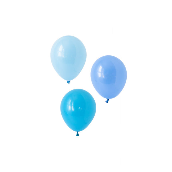 Brilliant Blue Mini Balloons Mix  Mini Latex Balloon Collections Hello Party Essentials - Hello Party